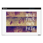 "Walk Your Own Path Skins For 15"" Laptops"
