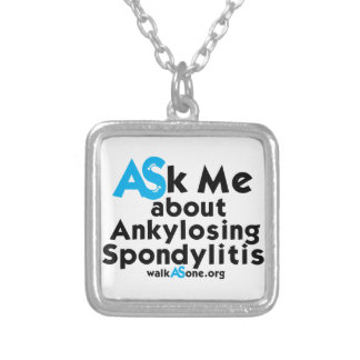 WalkASOne ASk Me design Silver Plated Necklace