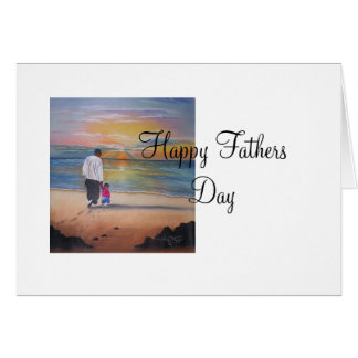 walked with me, Happy Fathers Day Greeting Card