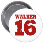 Walker 16 Campaign Jersey Distressed Pinback Button