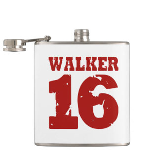 Walker 16 Campaign Jersey Distressed Hip Flasks