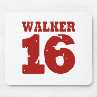 Walker 16 Campaign Jersey Distressed Mousepads