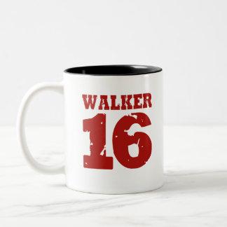Walker 16 Campaign Jersey Distressed Two-Tone Coffee Mug