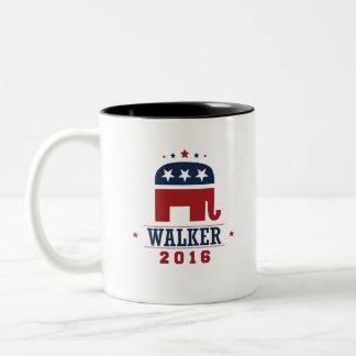 Walker 2016 GOP Elephant Design Two-Tone Coffee Mug
