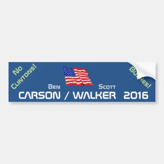 WALKER 2016 - no clintons no bushes Car Bumper Sticker