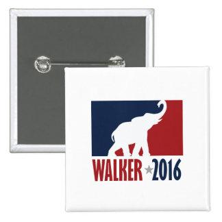 Walker 2016 Pro GOP Candidate Design Pinback Button