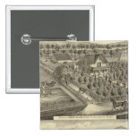 Walker, Ball residences 2 Inch Square Button