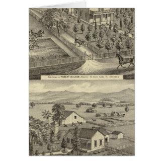 Walker, Ball residences Card
