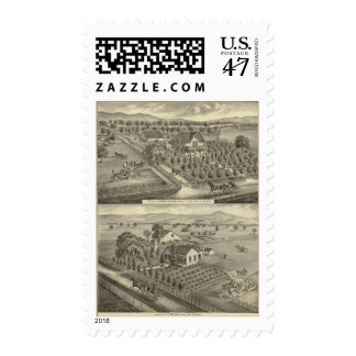 Walker, Ball residences Postage Stamp