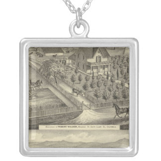 Walker, Ball residences Square Pendant Necklace