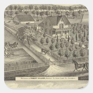 Walker, Ball residences Square Sticker