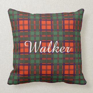 Walker clan Plaid Scottish kilt tartan Throw Pillow