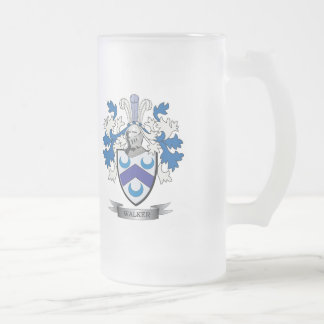 Walker Coat of Arms Frosted Glass Beer Mug