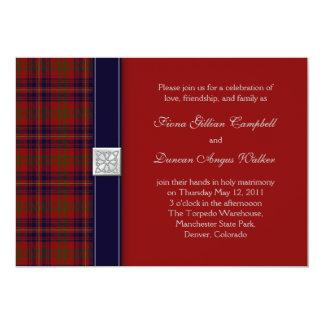 Walker Evening Tartan Celtic Wedding Invitation