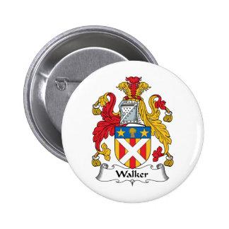 Walker Family Crest Pinback Button