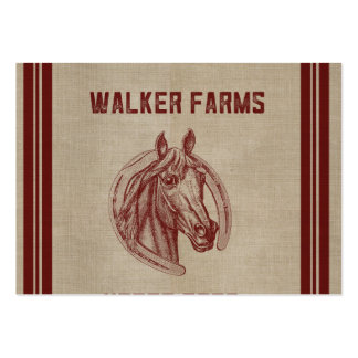 Walker Farms Horse Feed Sack Large Business Card