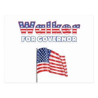 Walker for Governor Patriotic American Flag Postcard