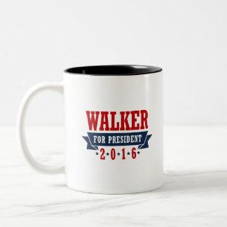 Walker For President 2016 Certified Ribbon Two-Tone Coffee Mug