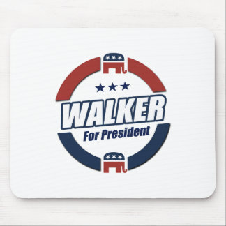 Walker for President 2016 Republican Button Mouse Pad