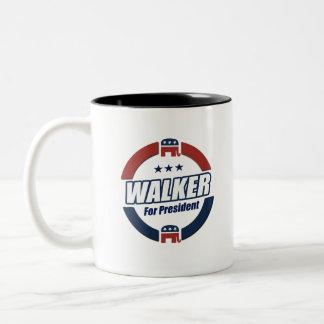 Walker for President 2016 Republican Button Two-Tone Coffee Mug