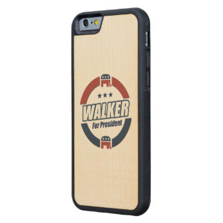 Walker for President 2016 Republican Button Carved® Maple iPhone 6 Bumper