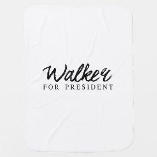 Walker For President Signature Baby Blanket