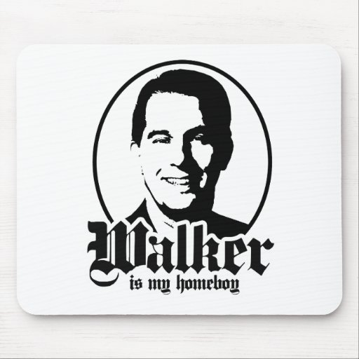 WALKER IS MY HOMEBOY MOUSEPADS