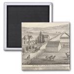 Walker, Knittel residences, farms Refrigerator Magnets