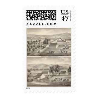 Walker, Knittel residences, farms Postage