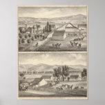 Walker, Knittel residences, farms Posters
