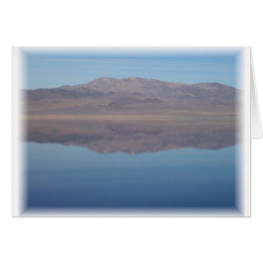 Walker Lake Mirror Image Card