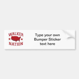 WALKER NATION CAR BUMPER STICKER