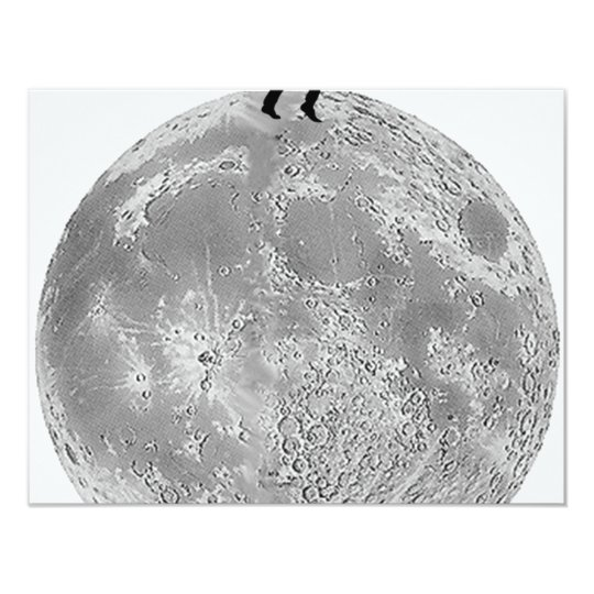 Walker on the moon card