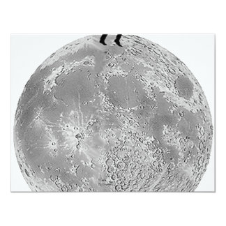 Walker on the moon 4.25x5.5 paper invitation card