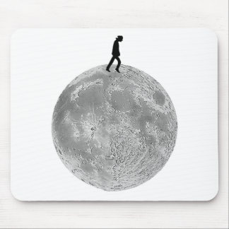Walker on the moon mouse pad