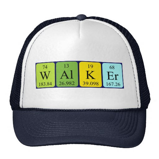 Walker periodic table name hat