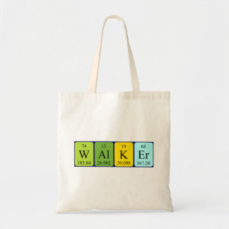 Walker periodic table name tote bag