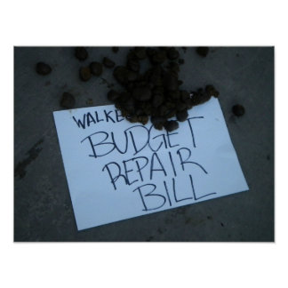 Walker Repair Budget Poster