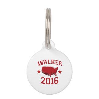 Walker Republican President for America 2016 Pet Nametags