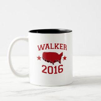 Walker Republican President for America 2016 Two-Tone Coffee Mug
