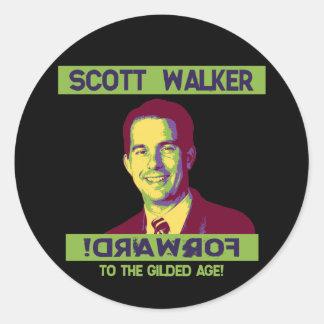 Walker, Scott - !DRAWROF Classic Round Sticker