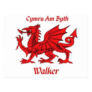 Walker Welsh Dragon Postcards