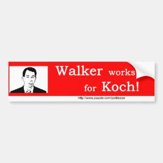 Walker Works for Koch Bumper Sticker