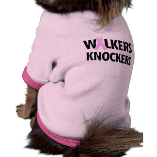 WALKERS FOR KNOCKERS DOG TEE SHIRT