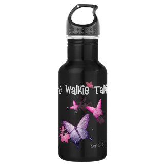Walkie Talkie Black Water Bottle