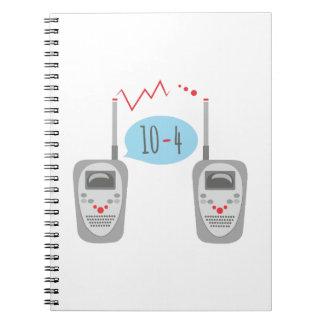 Walkie Talkies 10-4 Spiral Note Book