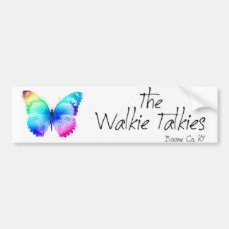 Walkie Talkies Bumper Sticker Car Bumper Sticker