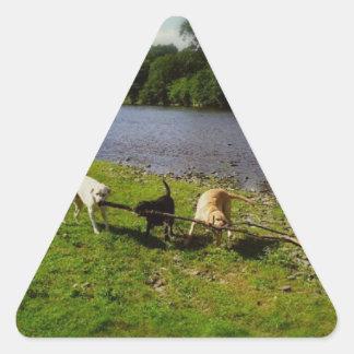 Walkies Triangle Sticker