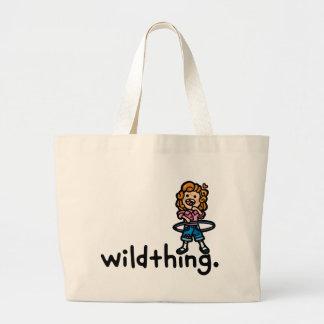 walkin' talkin' wild. tote bags
