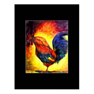 Walkin' the Talk (rooster) ACEO Art Trading Card Postcard
